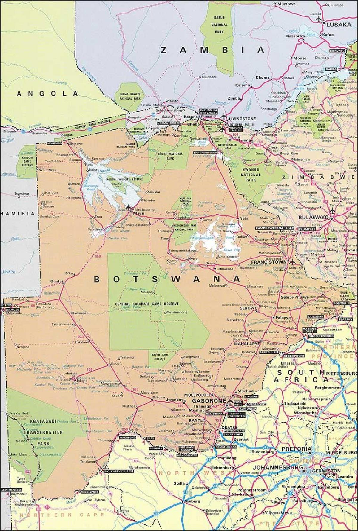 Karta Och Avstand.Botswana Karta Med Avstand Karta Av Botswana Karta Med Avstand
